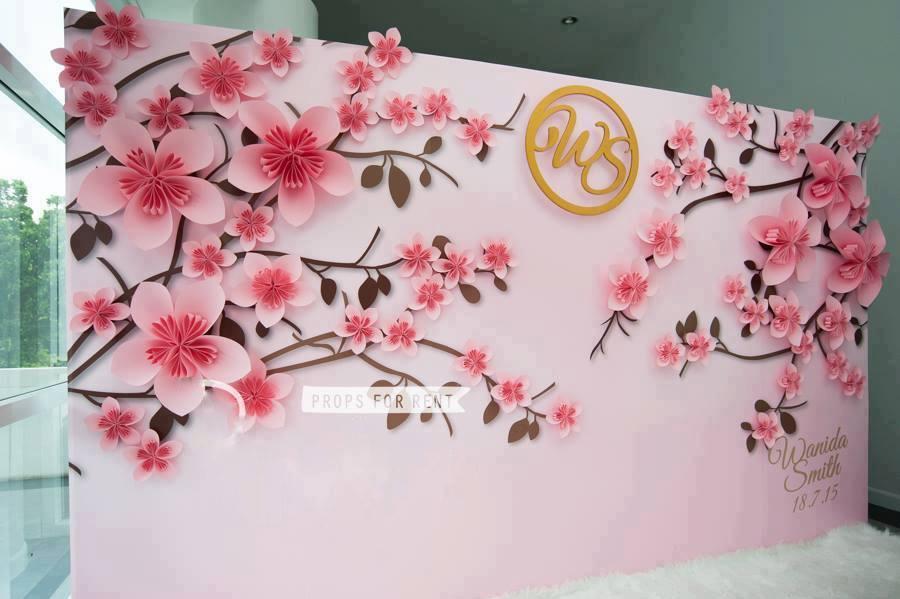 Backdrop wedding cưới trọn gói hoa giấy