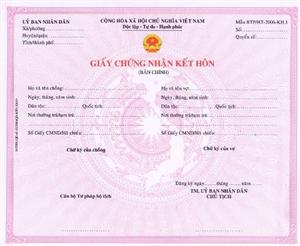 Thủ tục đăng ký kết hôn năm 2017